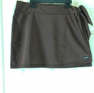 ATHLETA Brown Side Tie Wrap Skirt Cover up M
